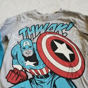 Marvel Comics Captain America T-Shirt Size 2T